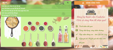 What you can do with Cookstar? Search Your Favorite Recipes